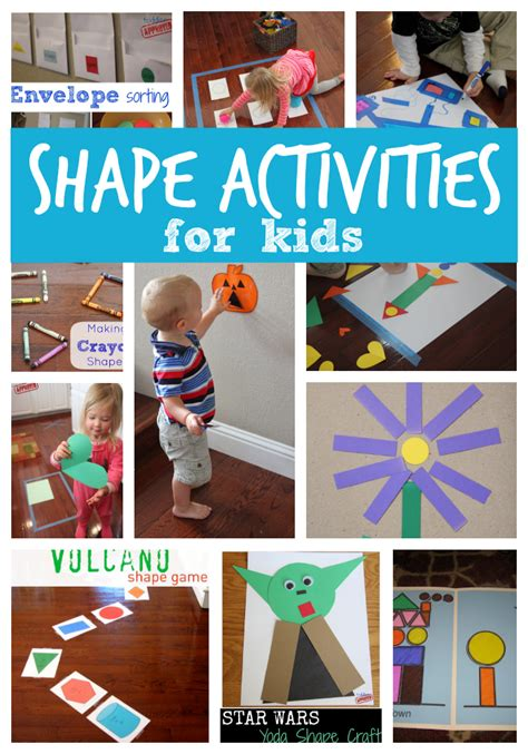 Toddler Approved! 25+ Shape Activities And Crafts For Kids
