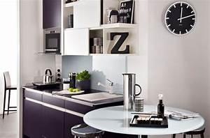 Cuisine Blanc Et Noir : le noir et blanc dans la cuisine c 39 est moderne darty vous ~ Voncanada.com Idées de Décoration