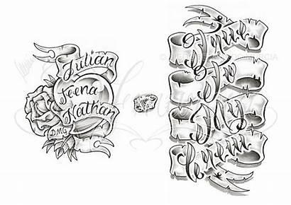 Banner Tattoo Designs Lettering Dfmurcia Deviantart Sheet