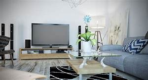 decoration salon avec canape gris With tapis de gym avec canapé design microfibre