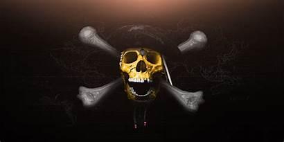 Skull Wallpapers Pirates Caribbean Geometric Artstation Poster