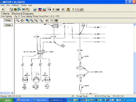 Need Wiring Diagram For Dodge Van Lighting