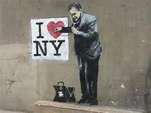 likefunme street art of banksy With banksy wall art