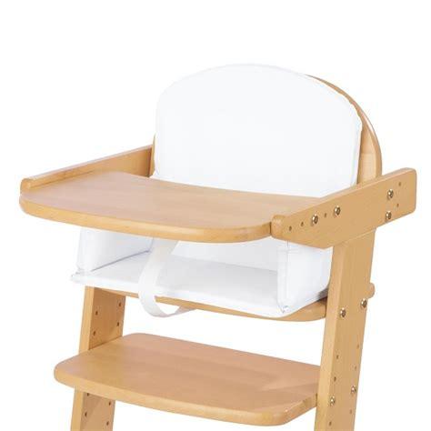 coussin pour chaise haute en bois coussin pour chaise haute blanc uni pinolino acheter