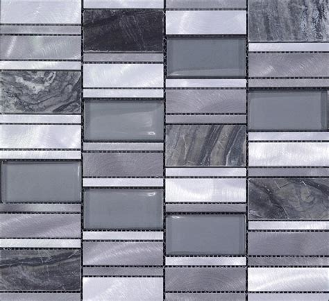 Stone Glass Mosaic Tile Stainless Steel Metal Wall Tiles