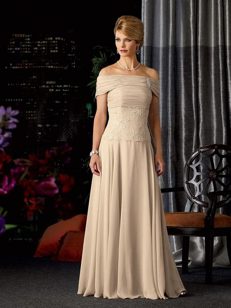 elegant strapless floor length chiffon   mother