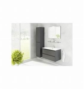 ensemble de salle de bain guadix gris 60cm meuble salle With porte d entrée pvc avec meuble salle de bain 80 cm gris