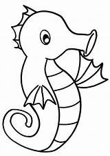 Coloring Sea Horse Pages Seahorse Print sketch template