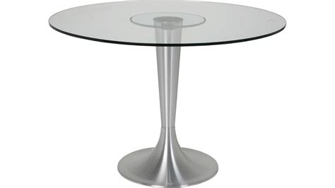 table de cuisine ronde en verre pied central table ronde 110