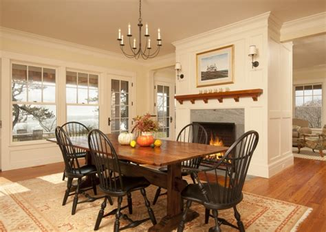 wonderful fireplaces   dining room  cozy  warm