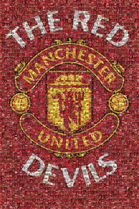 The Red Devils Mosaic, Manchester Utd Poster - PopArtUK