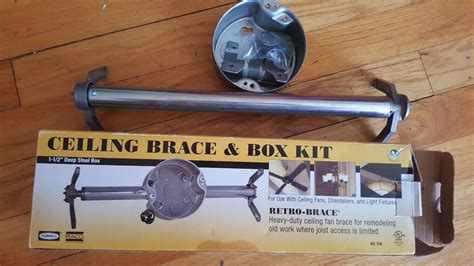 ceiling fan hardware kit hubbell ceiling fan brace and box kit heavy duty new in
