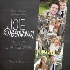 cartes de remerciements mariage une carte de remerciement de mariage moderne avec six photos au format tryptique wedding