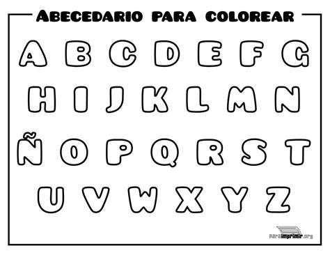 abecedario para imprimir y colorear