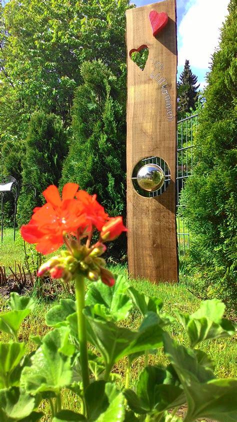 Holzskulpturen Für Den Garten by Gartenstele F 252 R Drinnen Und Draussen Garten