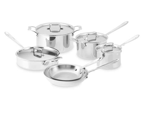 clad  stainless steel  piece cookware set williams sonoma au