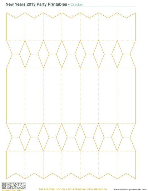cracker template printable free printable new year s kit botanical paperworks