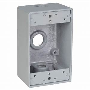 1 Gang Rectangular Weatherproof Outlet Box With 3 1  2 In