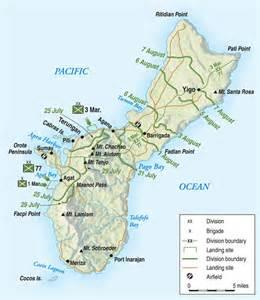 Guam Island Map