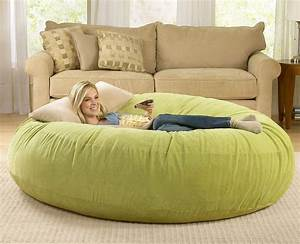 giant bean bag chairs the green head With big comfy bean bag chairs