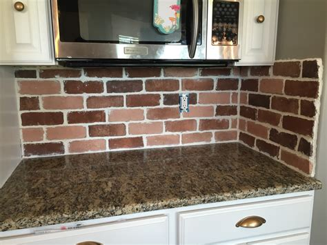 Doityourself Brick Veneer Backsplash  Remington Avenue