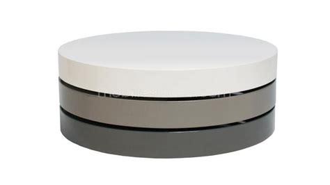 canapé d angle chocolat table basse ronde à plateaux blancs gris aranel