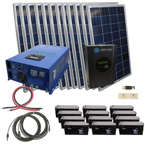 aims kitb 10k48240 c1 2880w solar kit with 10 000w inverter charger