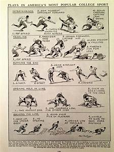 Vintage Football Print Football Playing Guide By Casaandco
