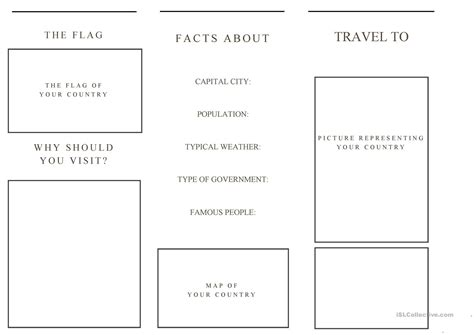 Tourist Brochure Template Free Download by Brochure Travel Brochure Template