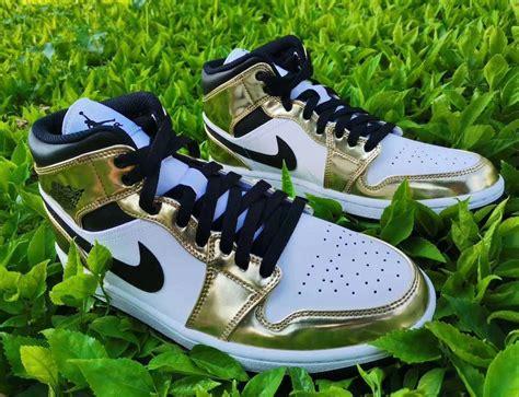 Air Jordan 1 Mid White Metallic Gold Dc1419 700 Release