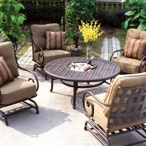 darlee malibu 5 piece cast aluminum patio conversation