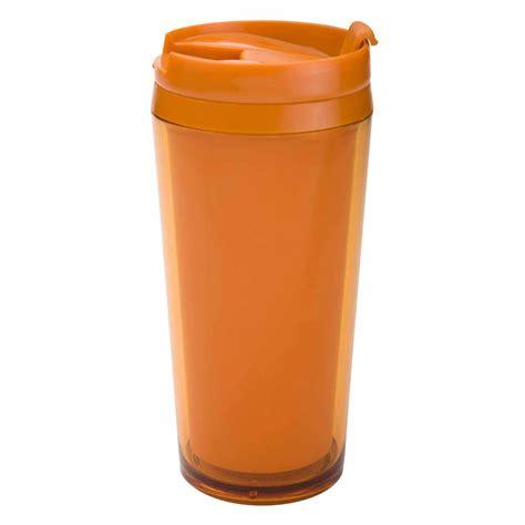 Zak Designs 14 oz Insulated Travel Tumbler   Orange