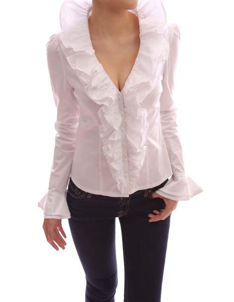 ruffled white blouse ruffled white blouse fashion ql