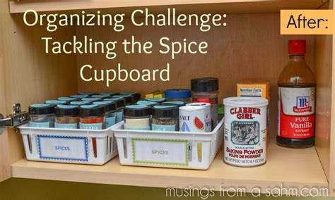How To Organize Spices In Cupboard by Organizing Challenge Tackling The Spice Cupboard Living