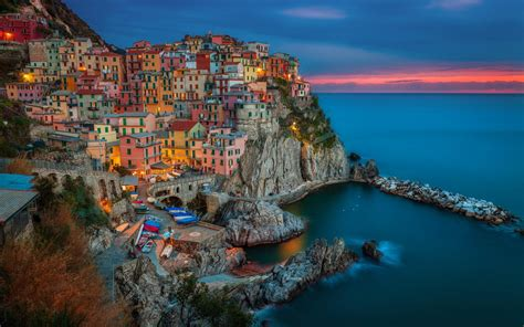 house   mountain  sea italy city hd wallpaper