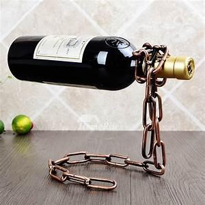 Metal, Wine, Bottle, Holder, Unique, Decorative, Vintage, Modern, Best, Iron