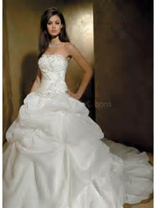 standesamt brautkleid white satin organza strapless gown wedding image 568010 on favim