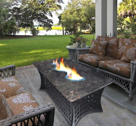 charming bar height fire pit table set images  image
