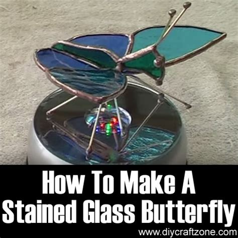 how to make a stained glass l diy craft zone how to make a stained glass butterfly diy