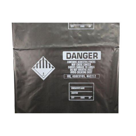 tm poly    black  mil polyethylene disposal bag