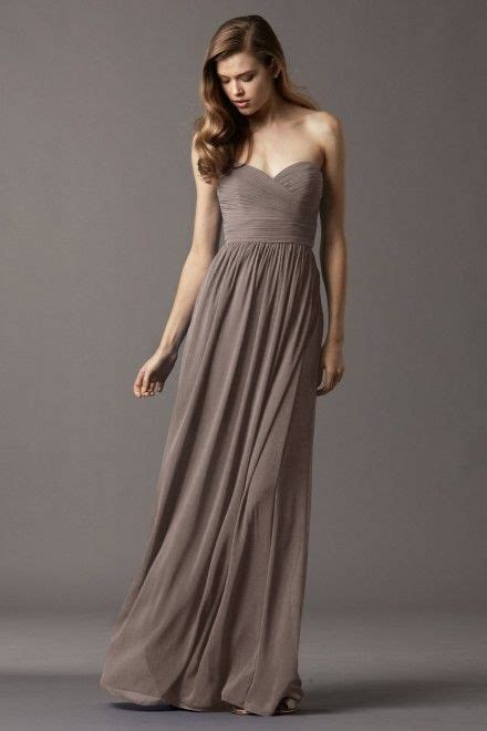 watters bridesmaids pine dress in stone sweetheart draped
