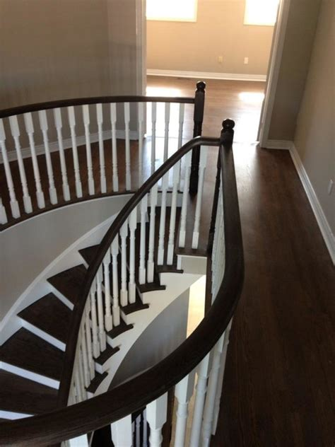 two tone hardwood floors two tone wooden stair case with dark stain white pain wood floor refinishing