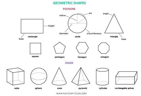 polygon shapes worksheets 3d shape outlines the outlines