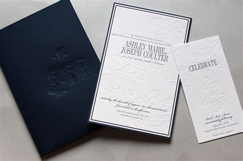 designer wedding invitations beau s classic navy and white wedding invitations