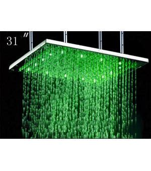 color changing led lighting stainless steel rain
