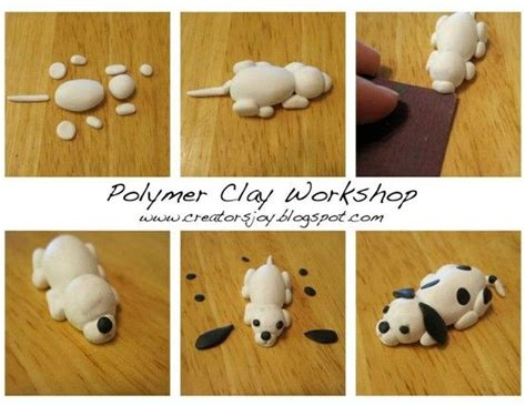meg newbergs polymer clay puppy sculpture tutorial