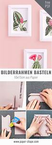 Bilderrahmen Aus Papier Basteln : 3d bilderrahmen basteln aus papier ganz ohne kleben ~ Watch28wear.com Haus und Dekorationen