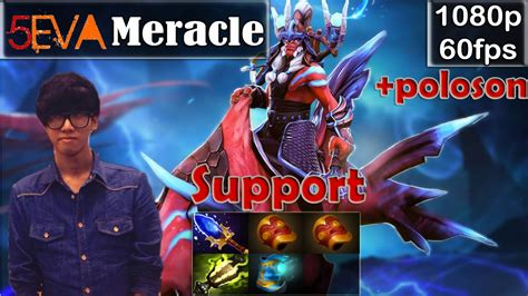 meracle 5eva disruptor support pro gameplay with poloson sf mmr dota 2 pro 60fps