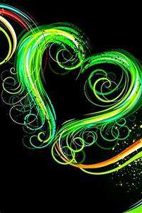 lime green heart backgrounds cool green and black