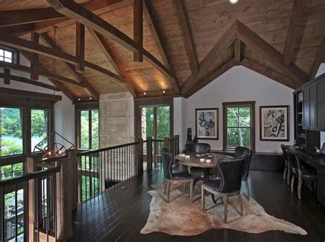 Modern rustic lake house in Georgia: Lake Bluff Lodge